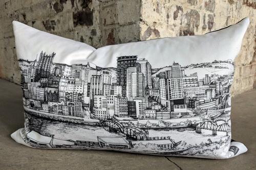 Klorebel Statement Pillow Mon Overlook Pittsburgh