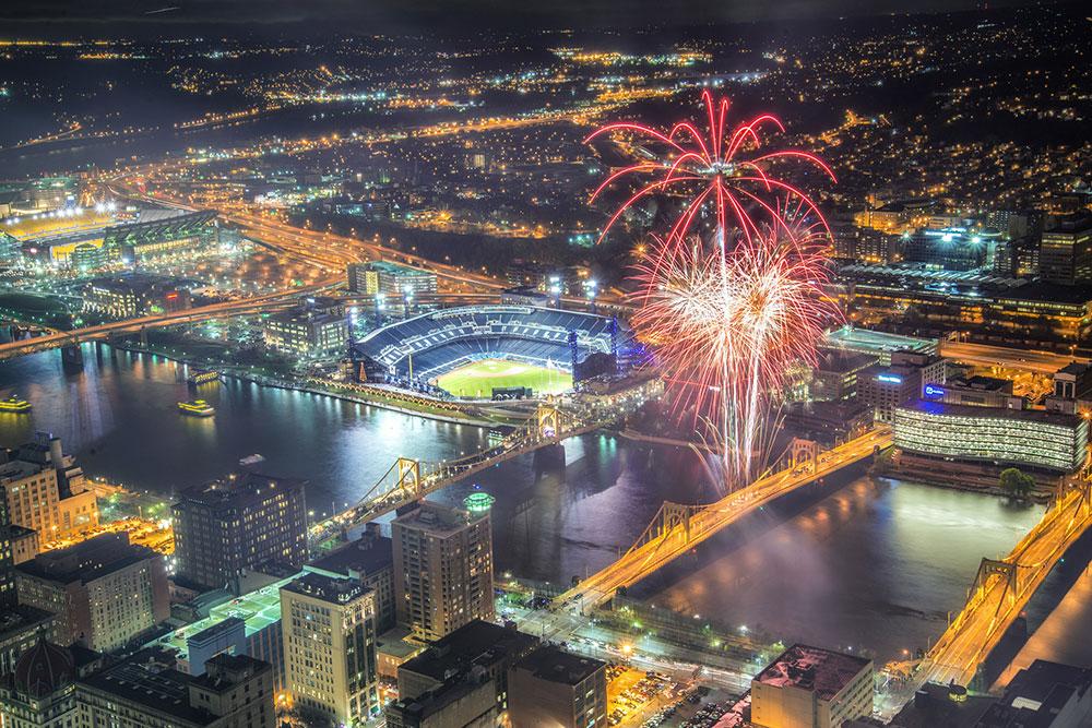 Fireworks Close Pnc Park Light Up Night