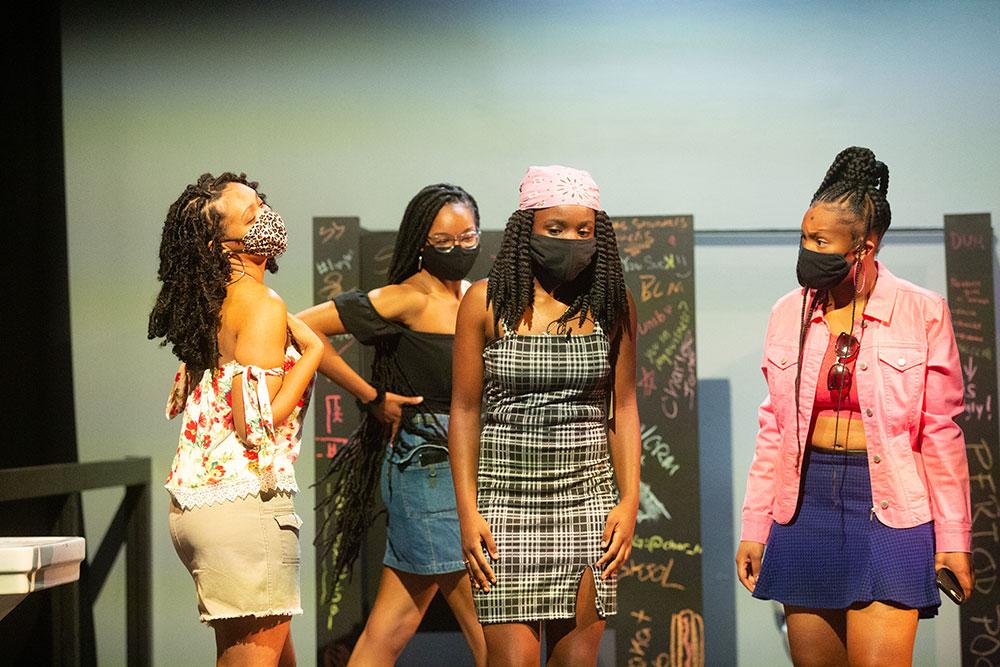 Laela Lumsden As Raise, Ryanne Giles As Raina, Katherine Bruce As Maleeka, Mikayla Keyes As Char