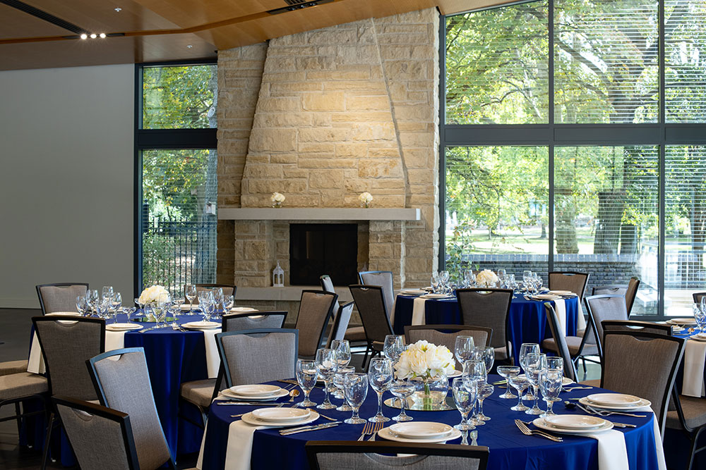 National Aviary The Garden Room Interior With Fireplace Elliot Cramer Photography