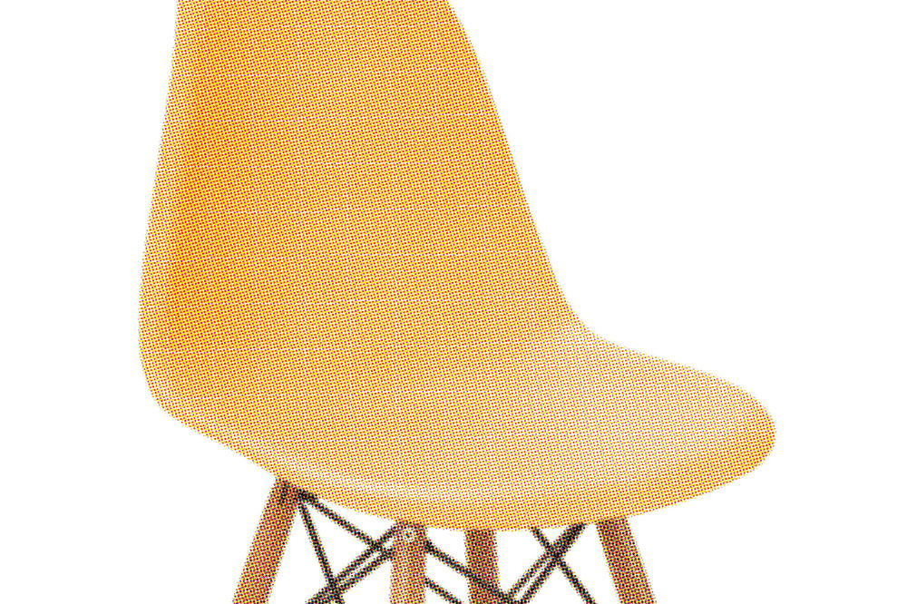 Chair Yellow Isolated