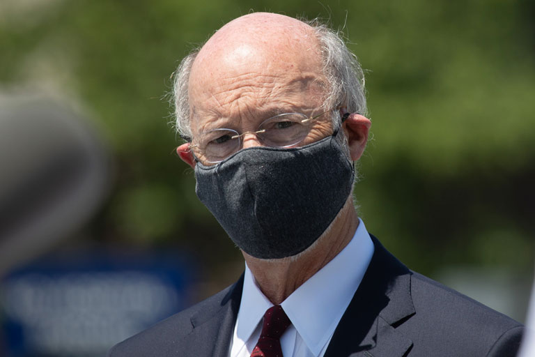 Governor Wolf Wearing A Mask Outside
