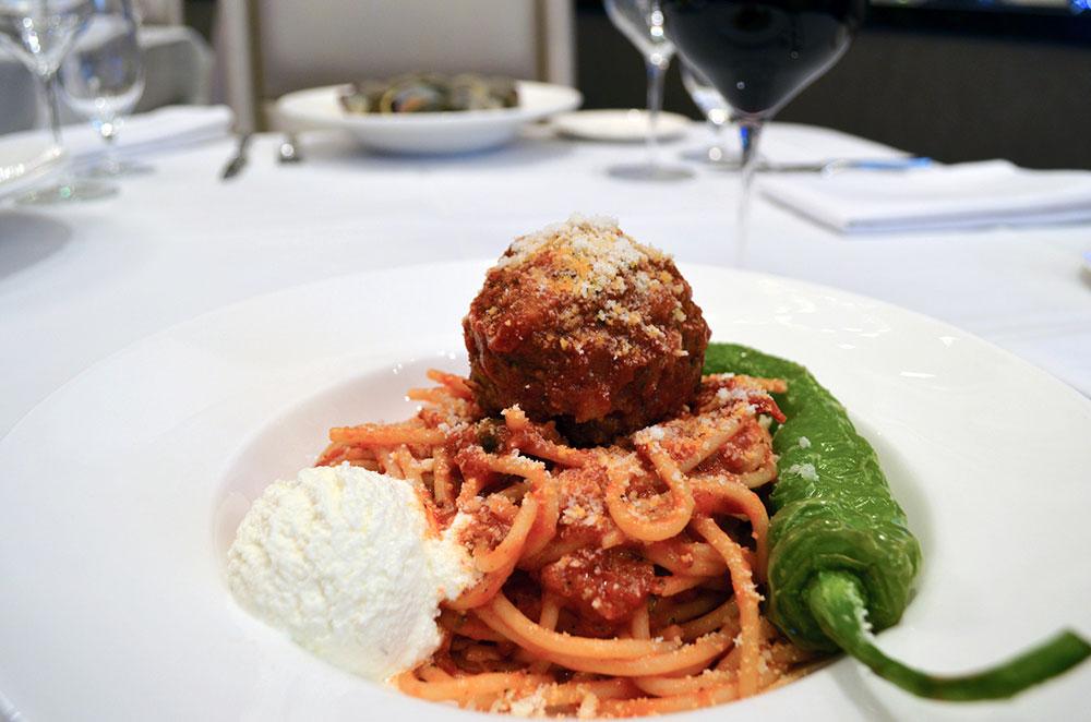 Spaghetti & Meatball At Martorano's Prime