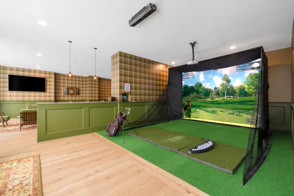 Golf Simulator In Game Room