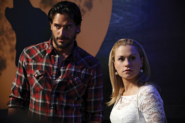 "Joe Manganiello and Anna Paquin on the set of ""True Blood."" Photo courtesy of HBO"