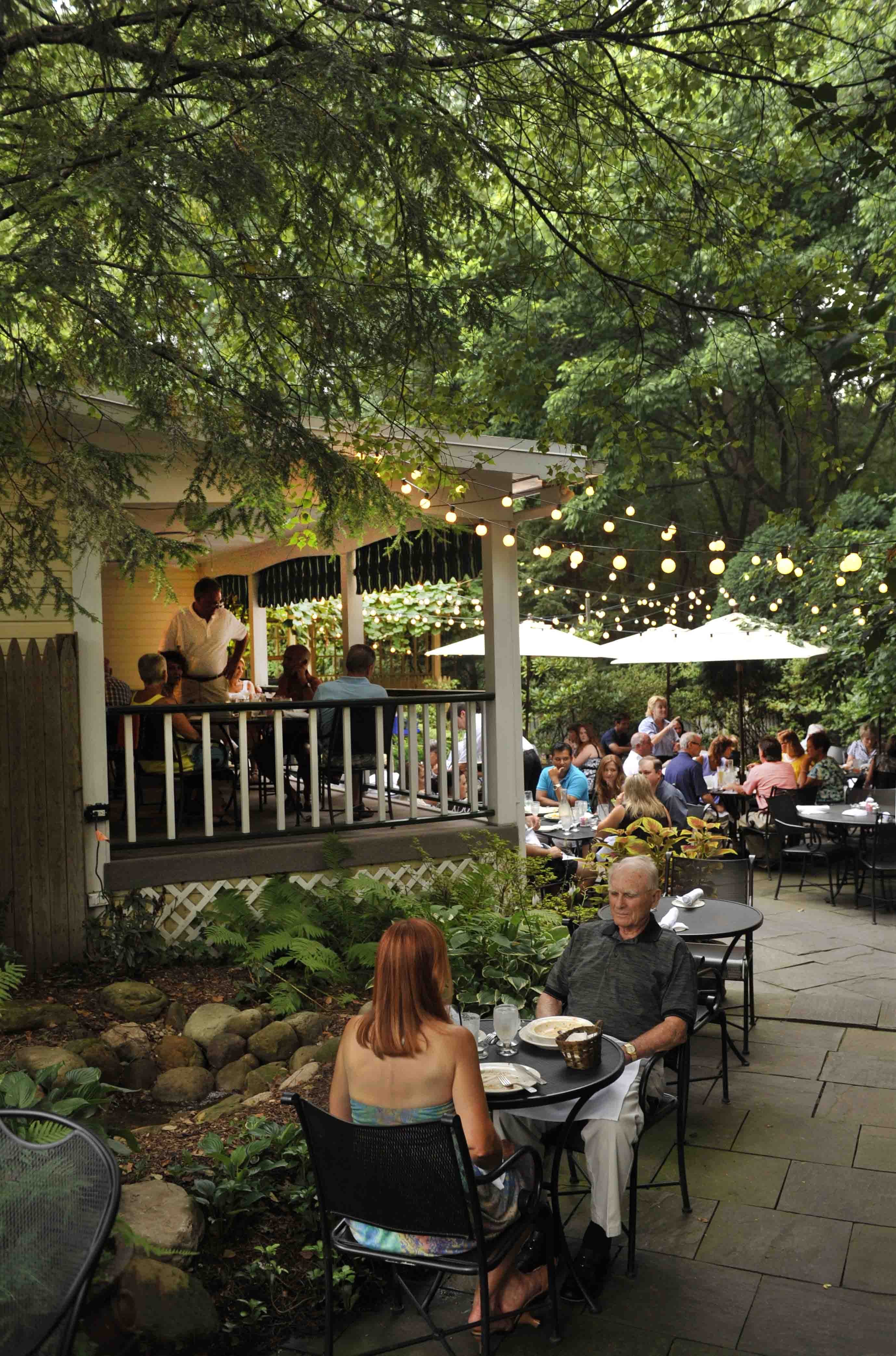 The Pines Tavern offers easygoing outdoor dining and the perfect atmosphere for a summer night.